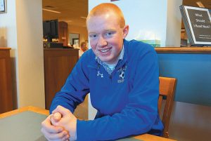 TYLER YOUNG, a senior at Morse High School, is to receive the 2016 Principal's Award.