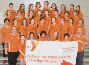 THE CASCO BAY STRIPERS pose after competing in the State YMCA Championships at the University of Maine in Orono recently.