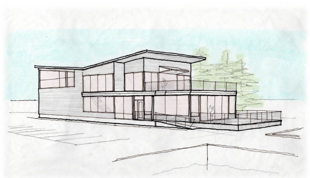 This architect's sketch shows a concept design for the new eatery proposed at the Spring Point site of the former Joe's Boathouse Restaurant.