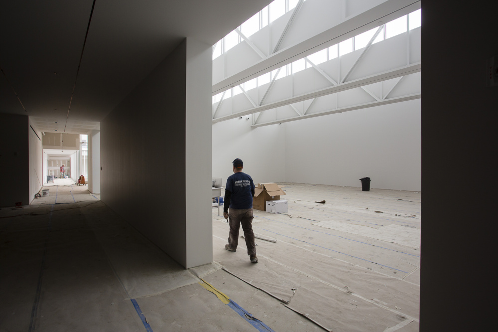 ROCKLAND, ME - MARCH 16: The Center for Maine Contemporary Art building in downtown Rockland, currently under construction, is scheduled to open in June. (Photo by Carl D. Walsh/Staff Photographer)