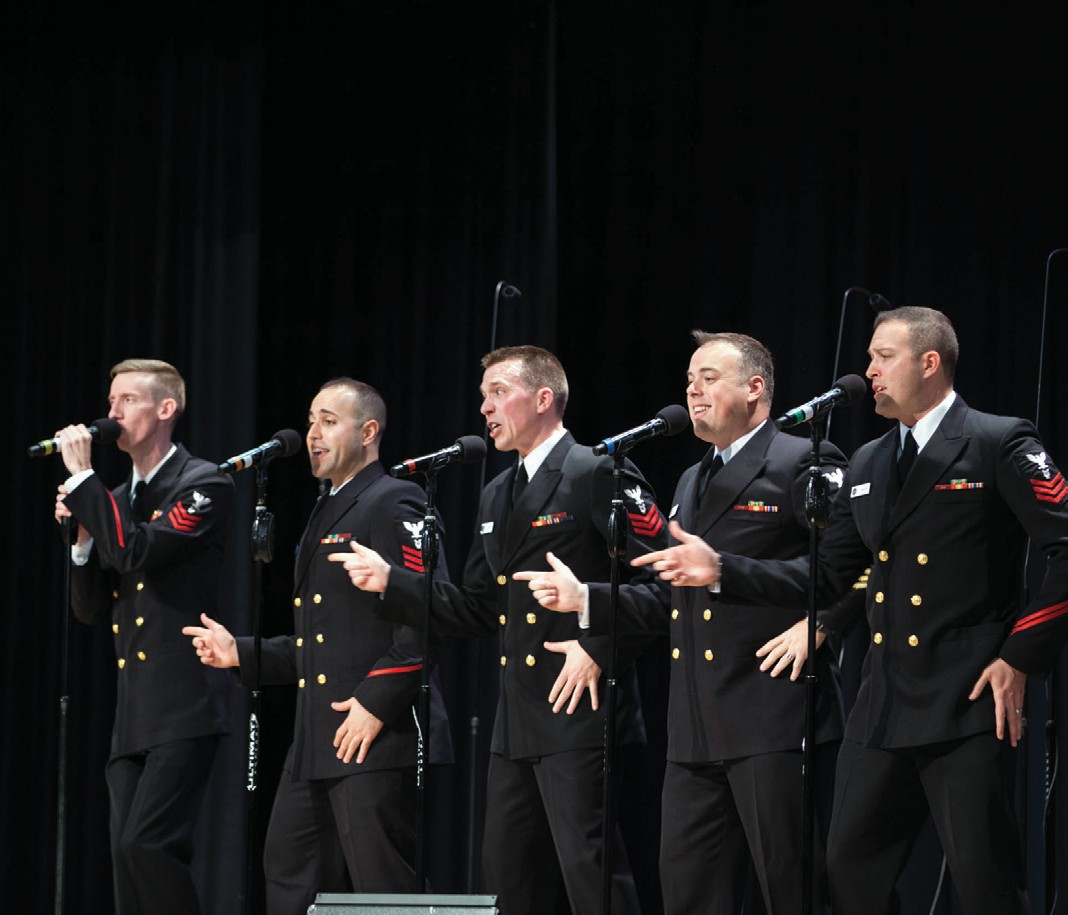 The U.S. Navy choral group the Sea Chanters will present a free concert Thursday at Veterans Memorial Gym on Main Street in Sanford. Doors open at 6:30 p.m. for the 7 p.m. performance.