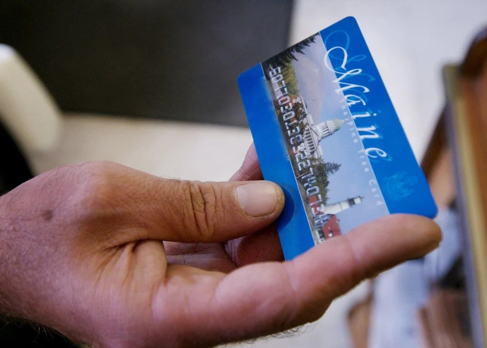 Electronic benefit transfer cards are used to access cash through the federal Temporary Assistance for Needy Families program.
