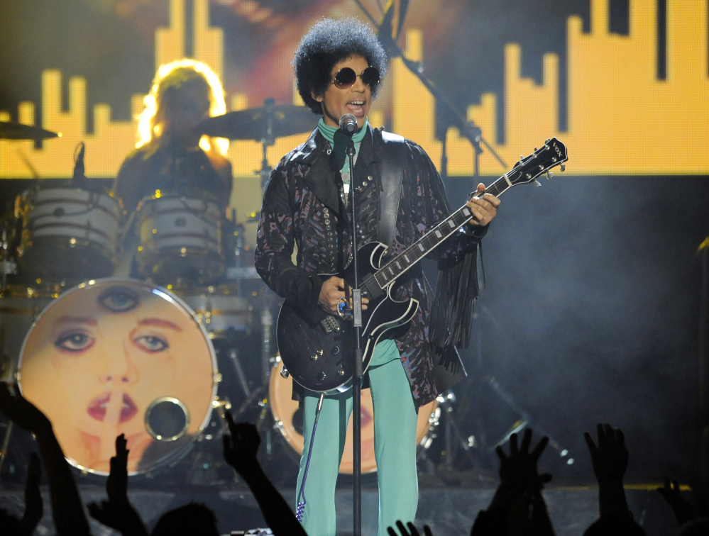 Prince performs at the Billboard Music Awards at the MGM Grand Garden Arena in Las Vegas.