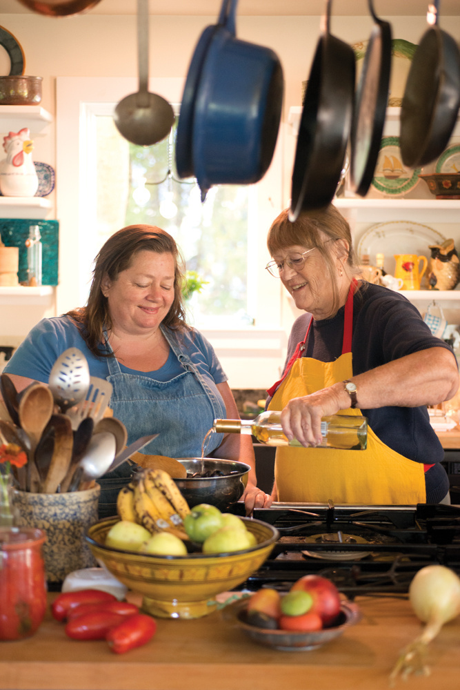 """Sara Jenkins, left, and Nancy Harmon Jenkins, are the mother-daughter co-authors of """"The Four Seasons of Pasta."""" Sara Jenkins owns Nina June, which has made Bon Appetit's list of finalists for best new restaurants."""