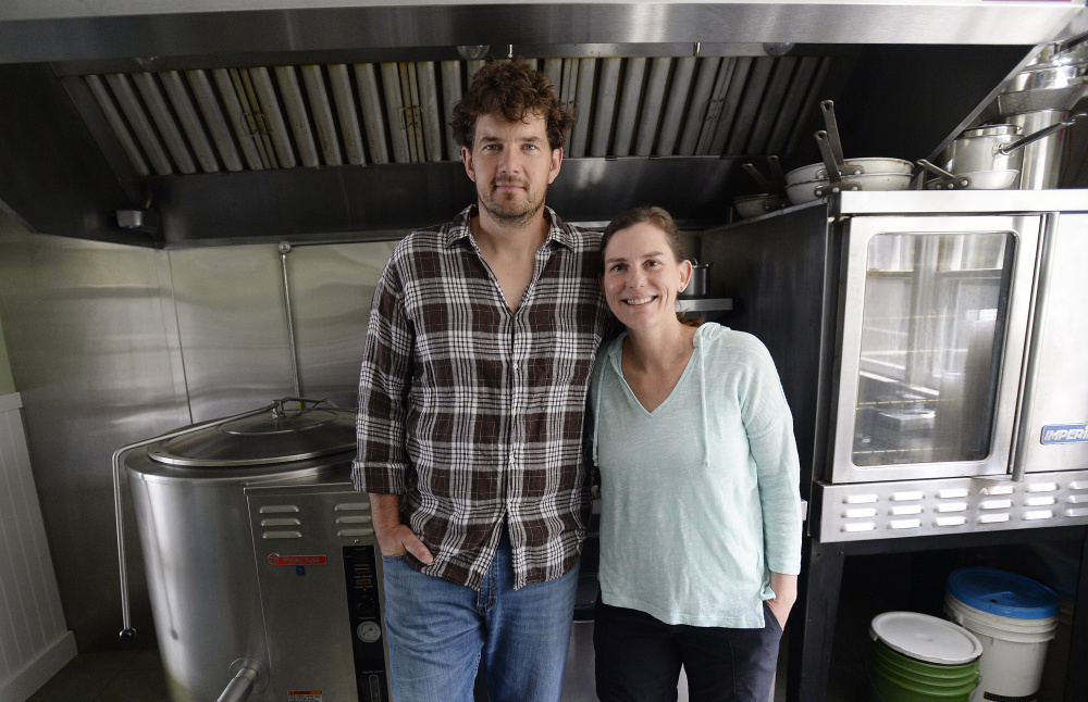 """David Koorits and Jennifer Scism started Good To-Go in Kittery. Scism is a chef who has cooked at four-star restaurants in New York and once beat New York chef and television personality Mario Batali on """"Iron Chef."""""""