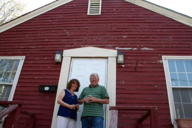 Brittney Sampson, left, and John Bernier from the Cornelia Warren Community Association stand in front of what will be the Frenchtown community hub at 13 Revere St. in Westbrook, following extensive renovations to its interior. Sampson will coordinate the resident-led community-building program, part of an effort to boost the neighborhood's sense of community. The project will receive nearly $39,000 from the Cornelia Warren Association.