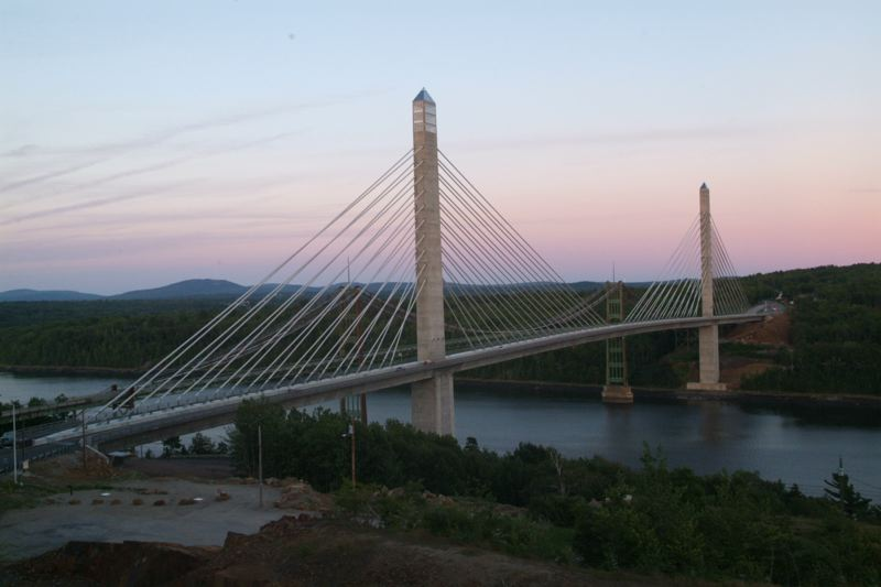 Police responded Thursday when a woman with a shotgun was reported on the Penobscot Narrows Bridge.