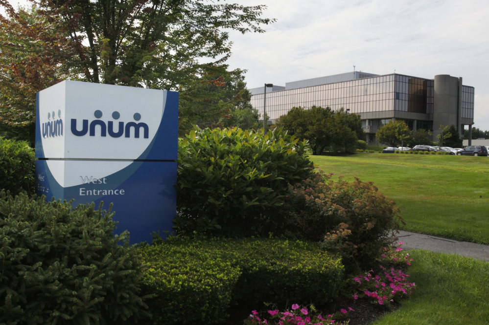 Tennessee-based Unum employs about 3,000 workers in Maine; this 2012 photo shows its Portland site.