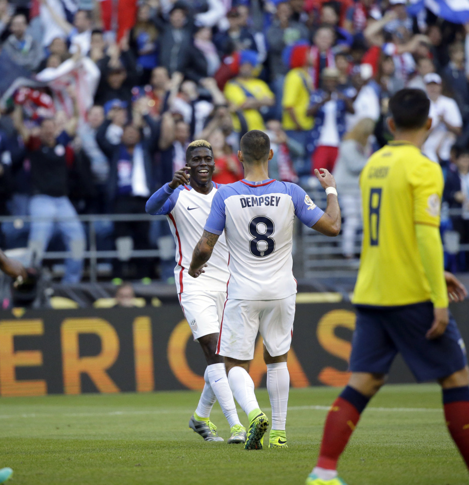 Clint Dempsey and Gyasi Zardes hope to do a little more celebrating Saturday night when the United States takes on Colombia in the third-place game at the Copa America. The tournament has been a success in the U.S.