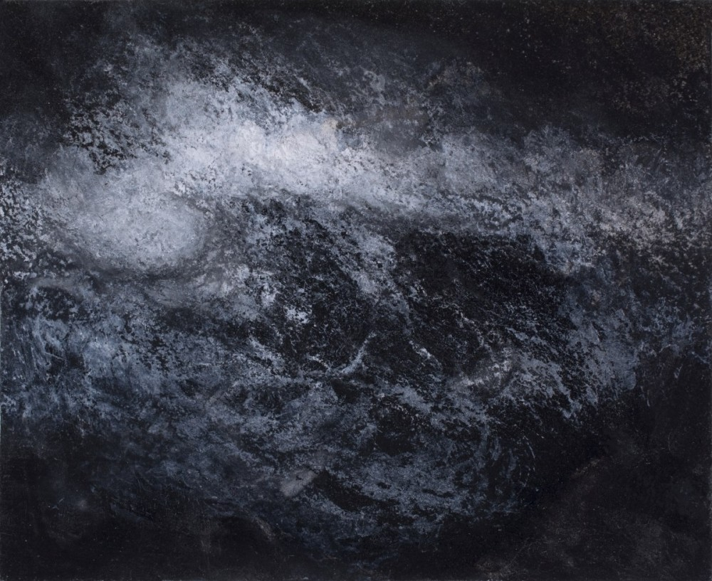 """Turbulence 1"" Ink, charcoal and chalk on paper"