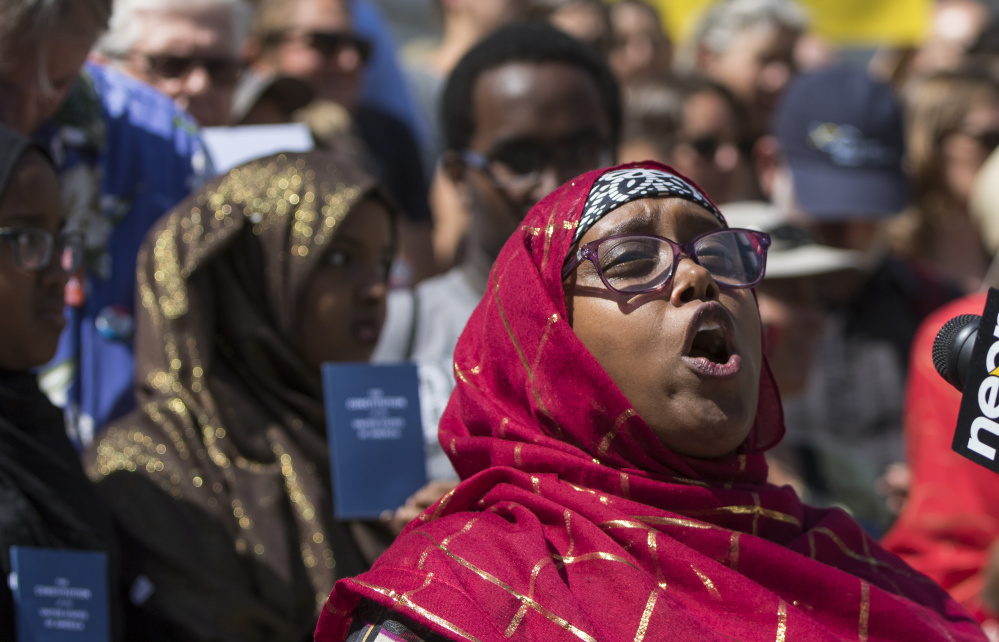 "Deqa Dhalac, one of the leaders at the Somali Community Center of Maine, said of Donald Trump's comments about Somali immigrants: ""We condemn in the strongest terms such name calling, scapegoating and lies."""
