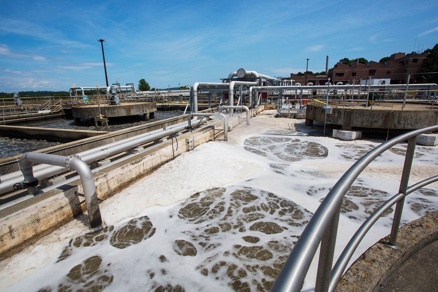 Inadequate aeration of sewage in open tanks at the East End Wastewater Treatment Plant coincided with the year's warmest and most humid months.