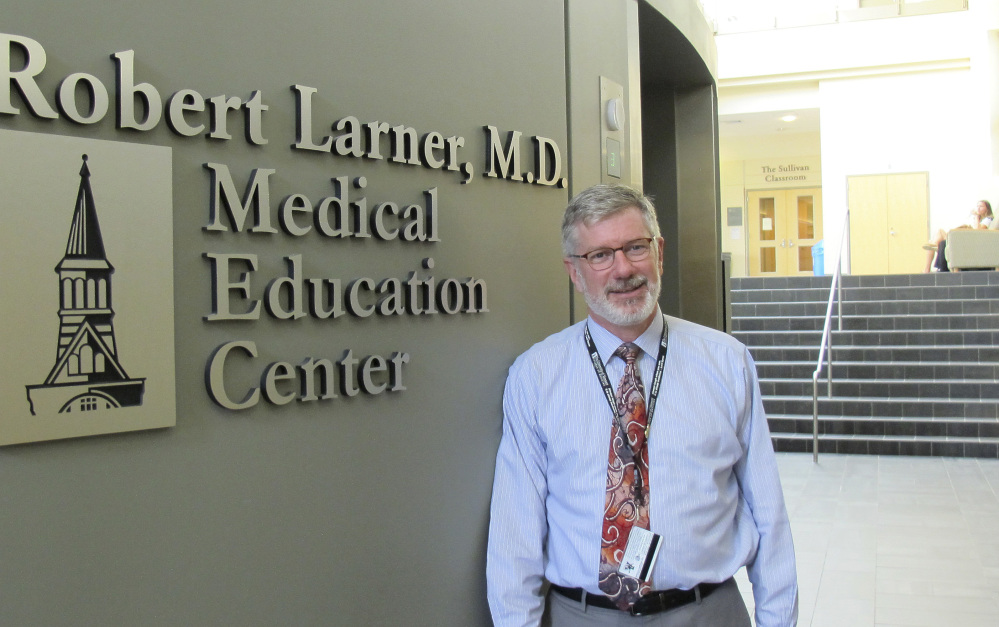 """University of Vermont medical school Associate Dean William Jeffries says students taught with traditional lectures are 1.5 times more likely to fail than those taught with active learning. """"If this was a clinical trial of a new drug or a treatment, we would adopt it,"""" he said."""