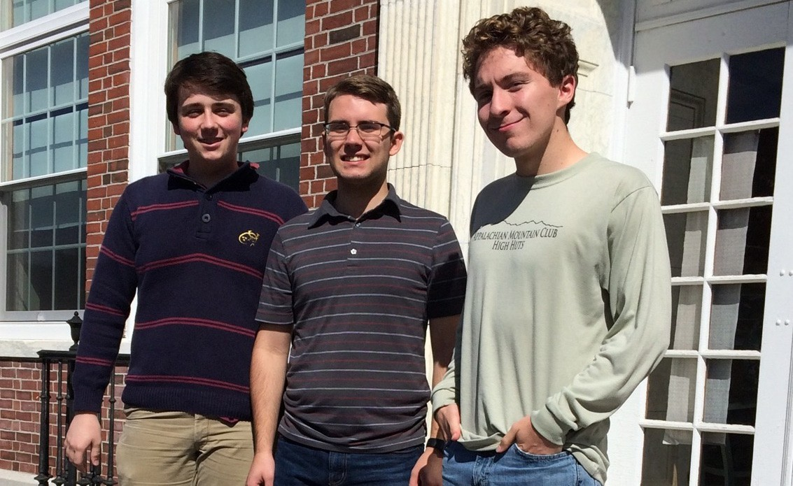 The National Merit semifinalists for Kennebunk High School are Matthew Albaum, Caleb Eickmann, and Kyle Ryan, Class of 2017.