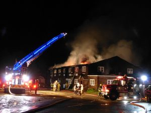 Thirteen people were displaced when the Freedom Center in Dresden, which provides transitional housing, was destroyed in an early morning fire. DARCIE MOORE/THE TIMES RECORD