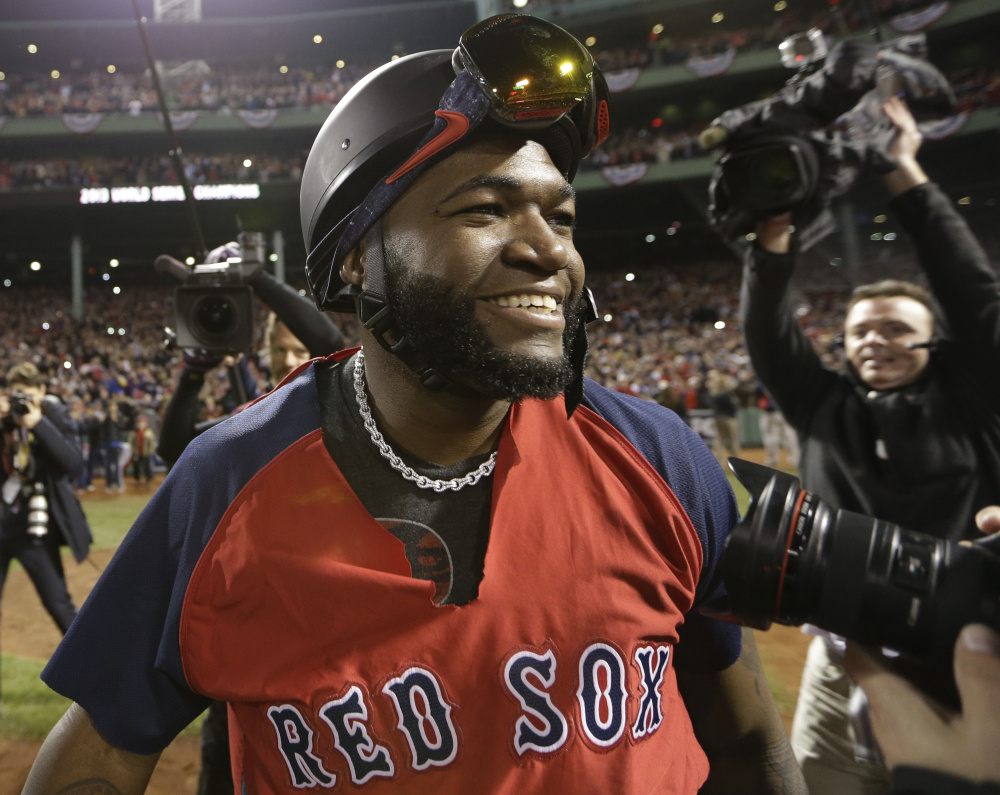 The Red Sox hope to send designated hitter David Ortiz out a champion, just as he was in 2013, the last time expectations were this high for Boston.