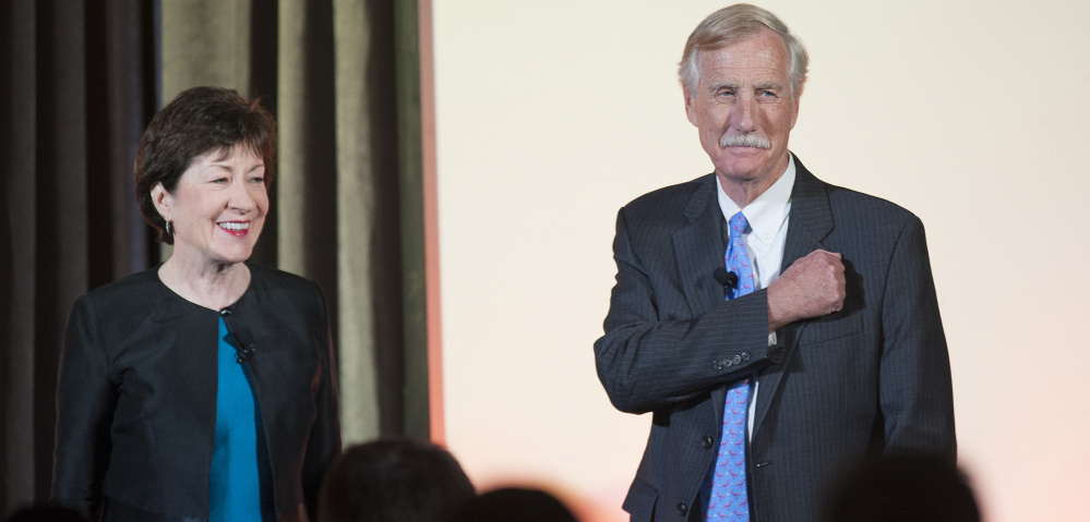Maine's current senators, Susan Collins and Angus King, join former Sens. William Cohen, George Mitchell and Olympia Snowe in Bangor on Friday night for a discussion of their careers and experiences representing Maine and the nation.