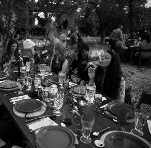 DINERS smoke marijuana as they eat dishes prepared by chefs during an evening of pairings of fine food and craft marijuana strains served to invited guests dining at Planet Bluegrass, an outdoor venue in Lyons, Colorado. Chefs and pot growers trying to explore fine dining with weed face a legal gauntlet to make pot dinners a reality, even where the drug is legal.