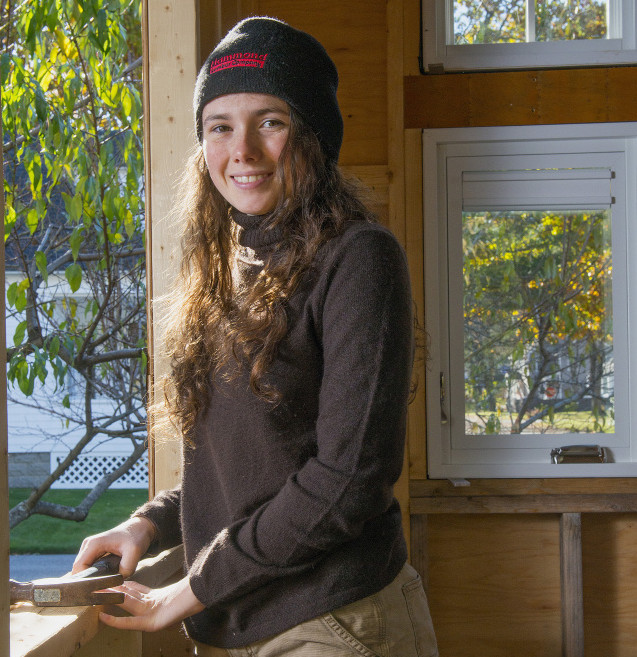 "Lila Bossi's high school senior project is building a tiny house in Brunswick, using reclaimed materials. ""The freedom to really take your home with you wherever you go"" appeals to Bossi, who is a student at the Maine Coast Waldorf School in Freeport."