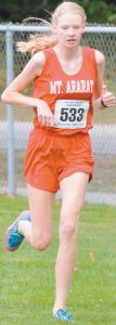 MT. ARARAT'S Katherine Leckbee hopes to make it a three-peat on Saturday in the State Class A Cross Country Championship at Troy Howard Middle School in Belfast. Leckbee, a junior, won the KVAC title three weeks ago and captured the Class A North Regional title last week.