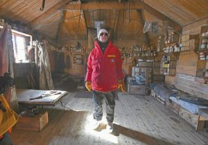 U.S. SECRETARY OF STATE JOHN KERRY stands inside the historic Shackleton hut near McMurdo Station, Antarctica, today. Secretary Kerry is traveling to Antarctica, New Zealand, Oman, United Arab Emirates, Morocco, and attending APEC in Peru on his 9 day trip.