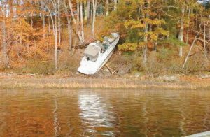 THE DRIVER OF A BOAT that ran aground on Swan Island shortly after midnight Sunday was charged with boating under the influence.