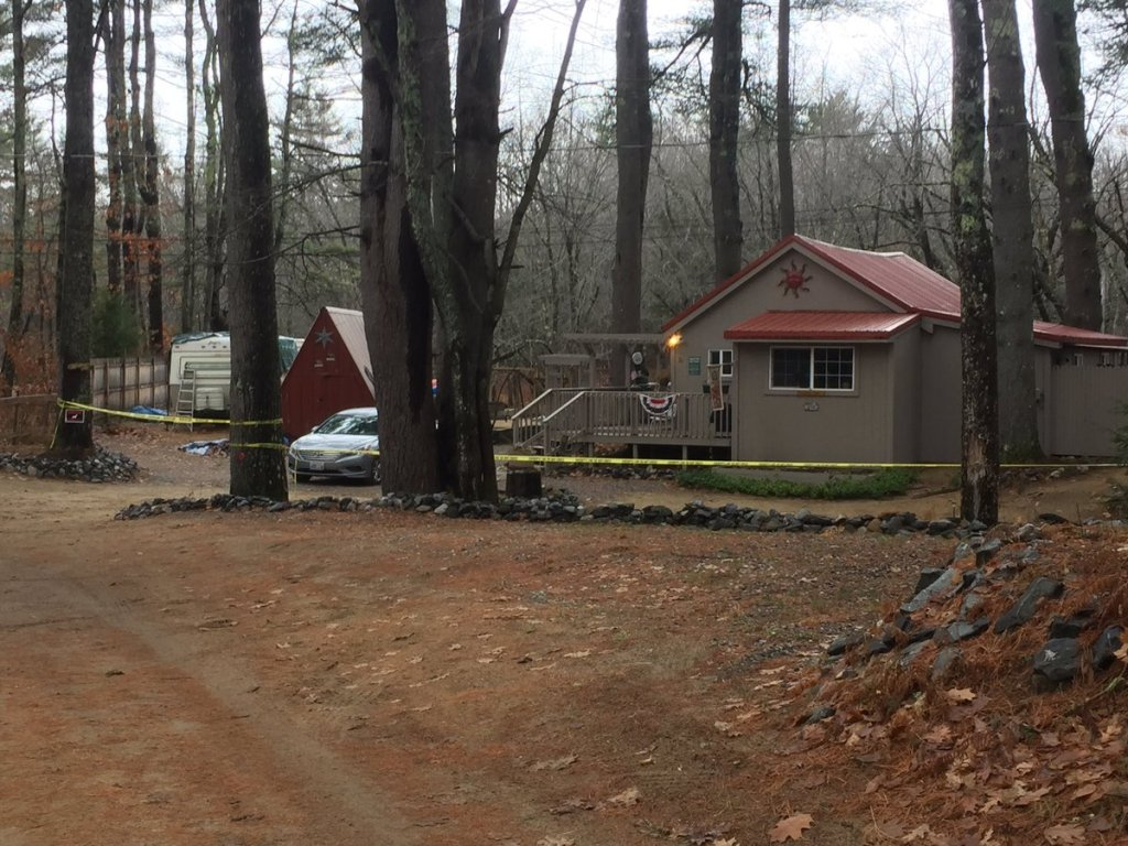 The first shooting happened at this house on Winifred Lane in Casco.