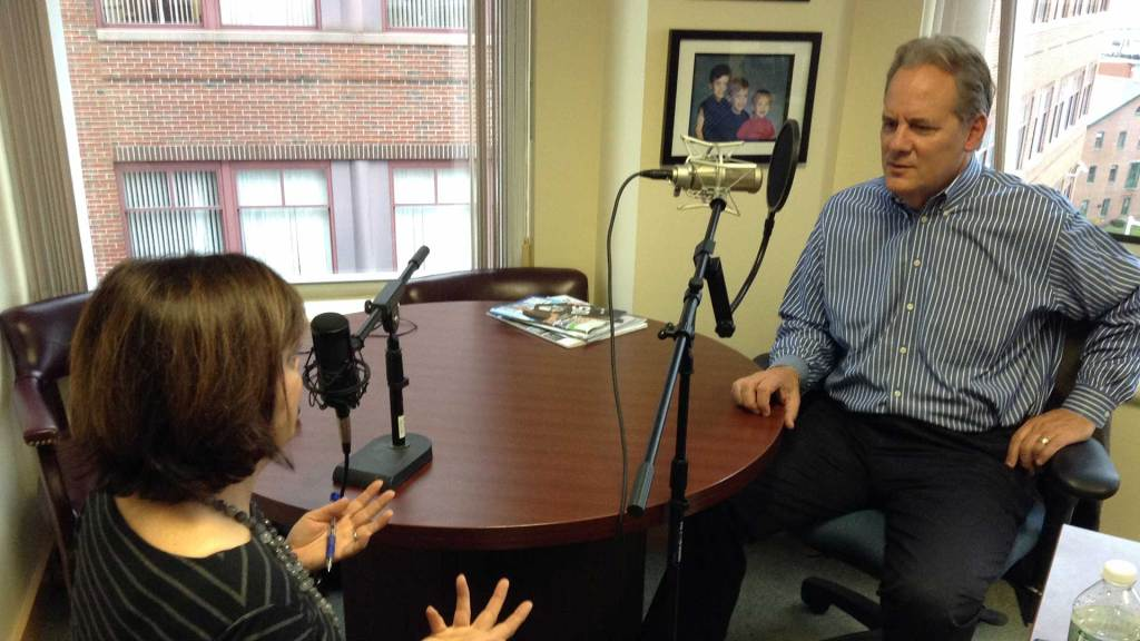 "Portland Press Herald C.E.O and Berntein Shur C.E.O. Patrick J. Scully sit down for a chat for the ""Like a Boss"" Podcast."