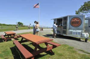 The Bite Into Maine truck at Fort Williams Park. The owners plan to open a small place in Scarborough.