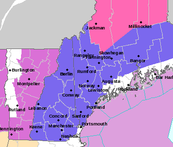Winter weather advisories are posted today in most of Maine