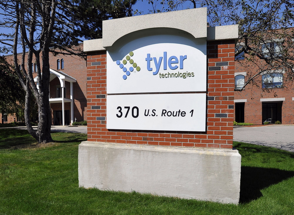 Tyler Technologies is headquartered in Texas, although its chief executive officer, John Marr, lives in Maine and the company has more than 650 employees in Falmouth, above, and Yarmouth and is expected to expand here in coming years. Late last year, the state signed a $16.9 million, five-year contract with Tyler to provide electronic services to Maine courts.