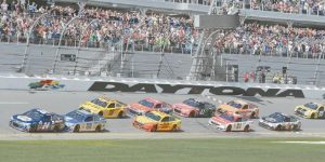 THE NASCAR season is about to begin for 2017 with Daytona qualifying this weekend. Above, here is the start of the 2016 race.