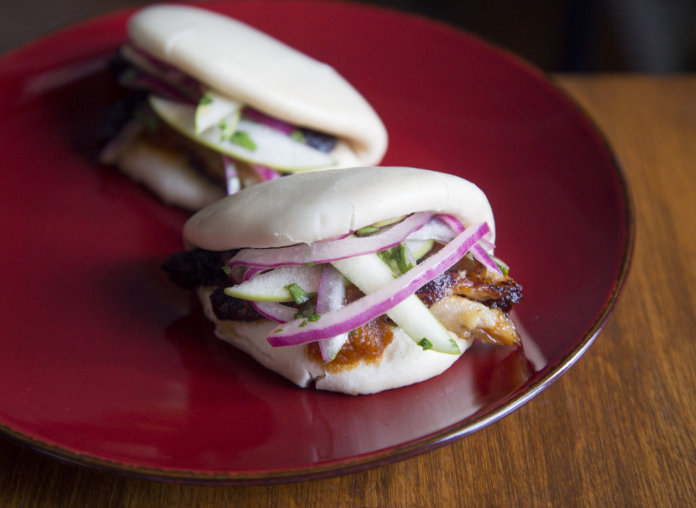 Asian Pork Jowl, Apple and Maple Bao