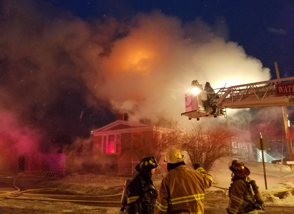 """Firefighters helped rescue two tenants of the building at 15 Summer St. in Waterville from a blaze Feb. 1, but the more unusual feat was the rescue of a Waterville fireman by his counterpart in Skowhegan. He apparently invoked """"Star Wars"""" to calm the trapped man."""