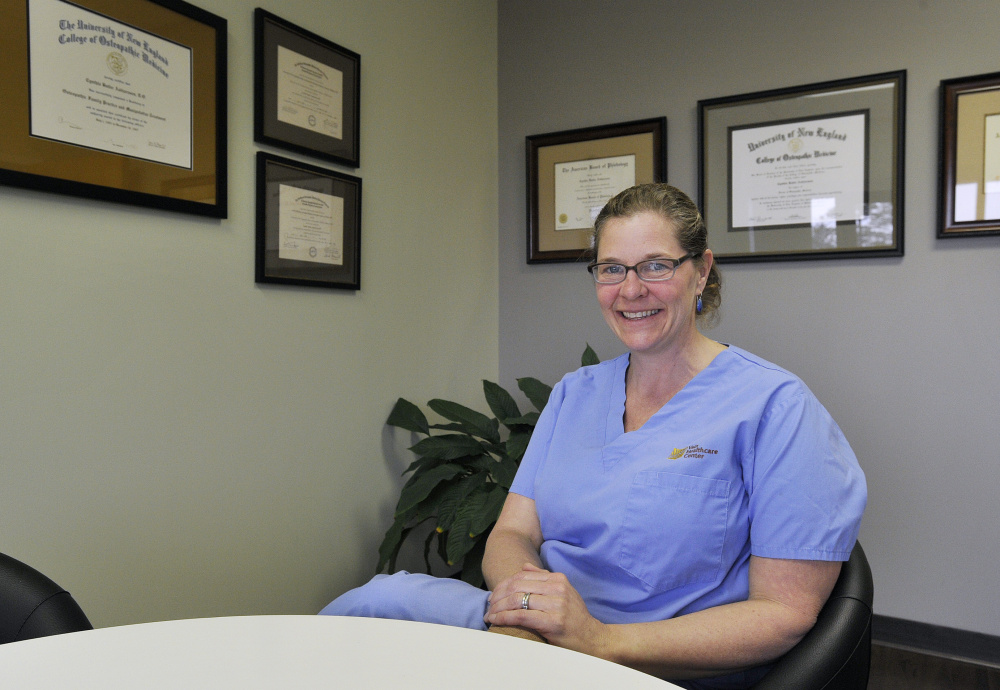 Dr. Cindy Asbjornsen of Vein Healthcare Center in South Portland.