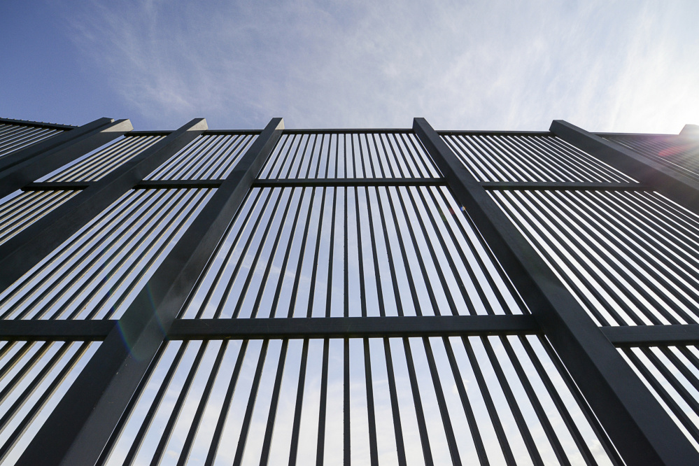 A section of the fence along the U.S.-Mexico border in Brownsville, Texas.