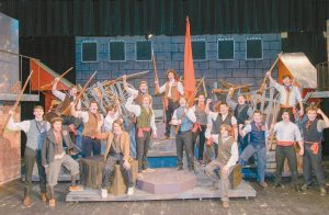 """THE BRUNSWICK High School Players perform the barricade scene from """"Les Miserables."""" The musical will be performed in Crooker Theater on March 23-25."""