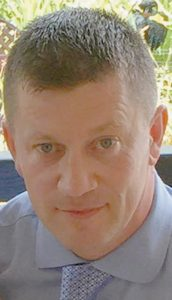 PHOTO RELEASED by Metropolitan Police on Wednesday of police officer Keith Palmer, who was killed during the attack on the Houses of Parliament in London. In raids today, seven people were arrested.