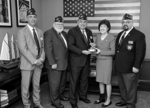 SEN. SUSAN COLLINS has been recognized for her legislative support of military veterans and their families. The Portland Press Herald reports Collins was awarded the Veterans of Foreign Wars' 2017 Congressional Award in Washington on Wednesday evening. The honor is given to one member of Congress every year. Brian Duffy, national commander of the Veterans of Foreign Wars of the U.S. and its Auxiliary, says Collins has long looked out for America's veterans and is one of their biggest advocates in Congress. The nonprofit group is comprised of nearly 1.7 million veterans and military service members from the active, guard and reserve forces. Collins, a Republican, is a lifetime member of the VFW Auxiliary Post in Caribou. — The Associated Press