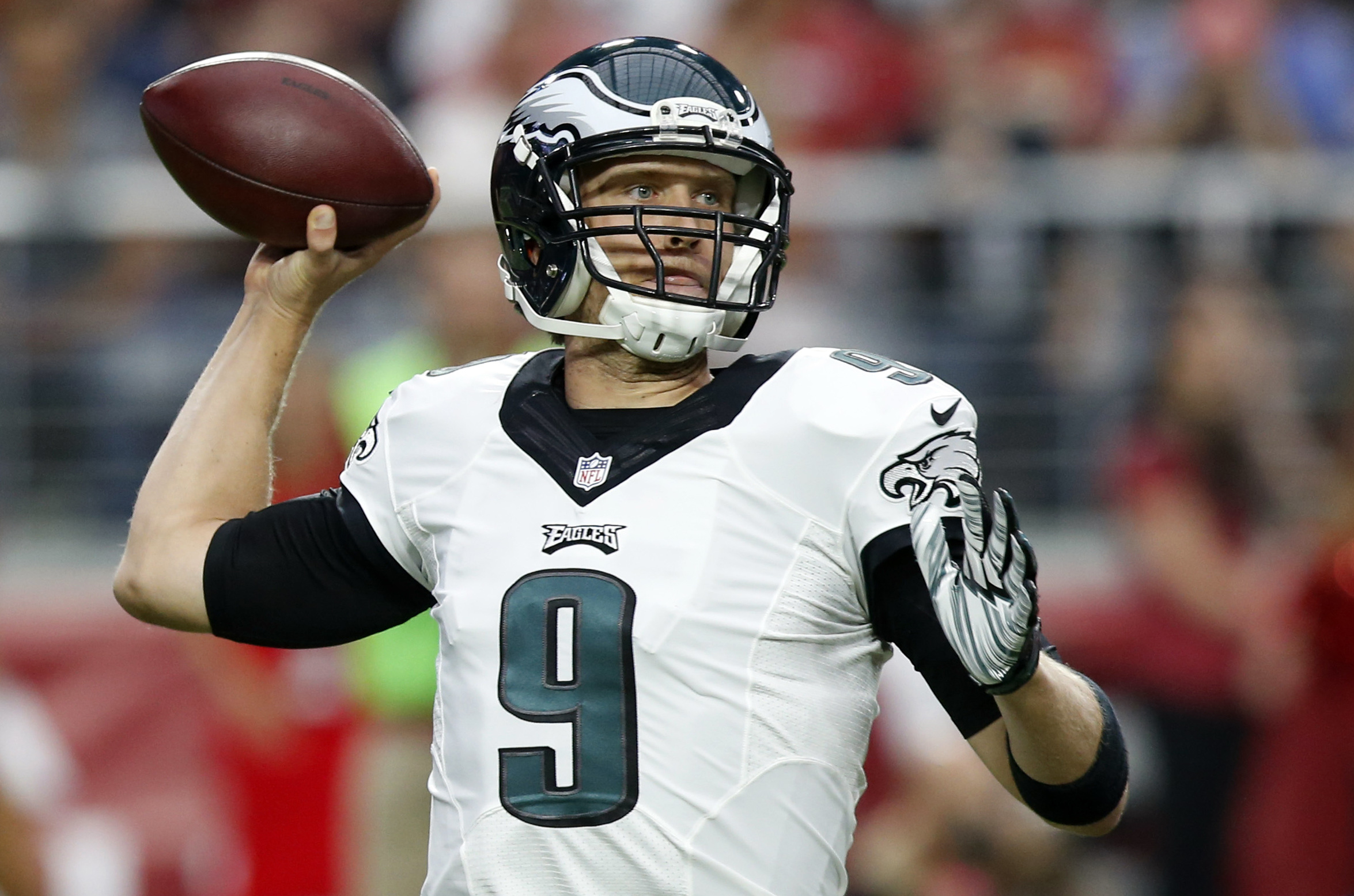 Nick Foles warms up prior to a game in 2013. AP NEWSWIRE