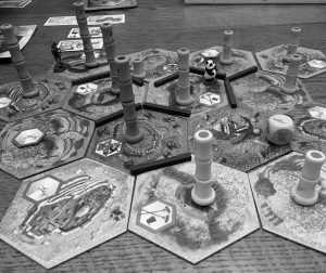 BOARD GAMES like the one seen above will be available to play at Patten Free Library's International Tabletop Game Day event on Saturday in Bath. The event takes place in the library's Community Room and runs from 10 a.m. to 4 p.m.