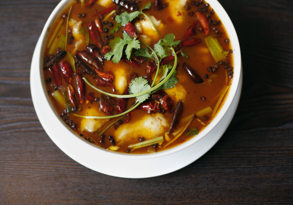 Sichuan poached fish at Sichuan Kitchen in Portland.