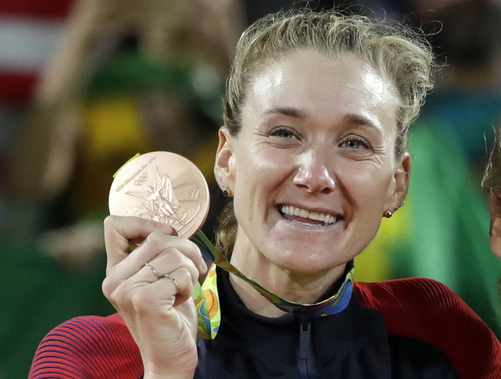 Kerri Walsh Jennings said the bronze medal she won for women's beach volleyball last year is flaking and rusting. The problem doesn't appear unique.