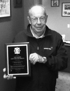 LEE GAGNE, owner of Lee's Tire and Service, was recognized recently for his years of work with the Topsham and Ararat Babe Ruth baseball leagues. Gagne will be inducted into the Maine Babe Ruth Hall of Fame.