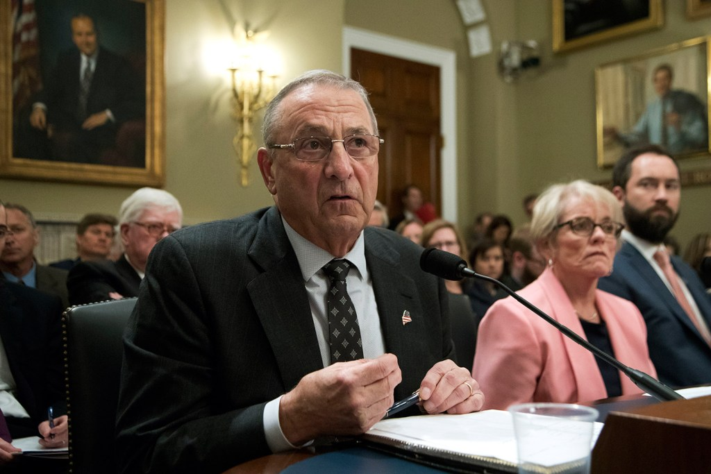 Gov. Paul LePage told a House Natural Resources subcommittee oversight hearing that he opposes the designation of a national monument in Maine during May 2 testimony on Capitol Hill in Washington.