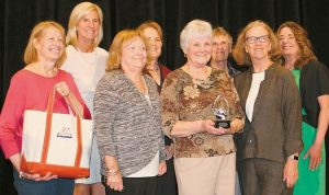 FROM LEFT: Debbie Daggett, Cindy Doolan, Julie Fraser, Pat Palmer,Nancy Martson, Chris Lehay and Genie Fields and Paula Paladino.