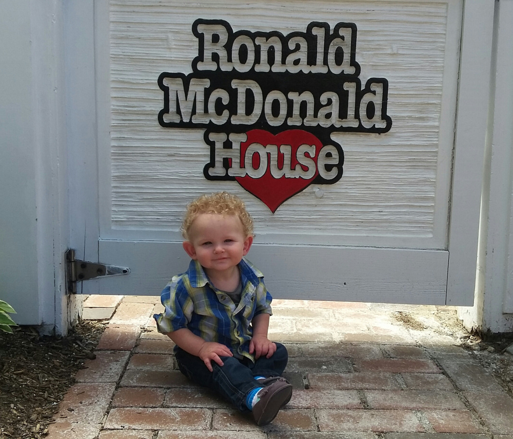 Vincent Day at the Ronald McDonald House in Portland on his first birthday. Vincent, now 2, is doing well, his mom says.