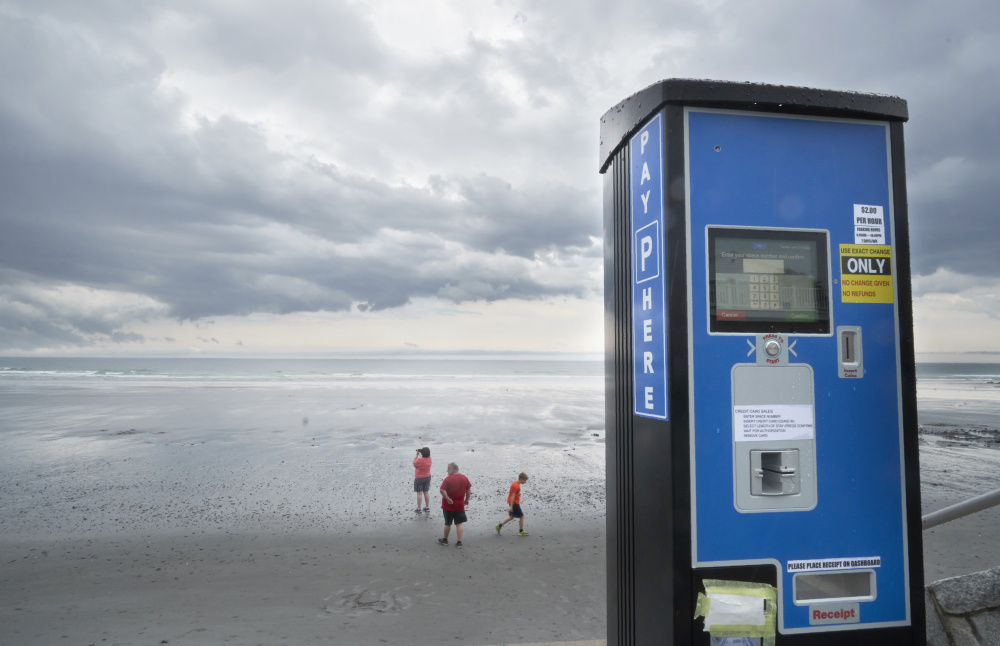 Cape Elizabeth is considering installing parking meters like these at Fort Williams.  The town of York installed these along Long Sands Beach in 2017.