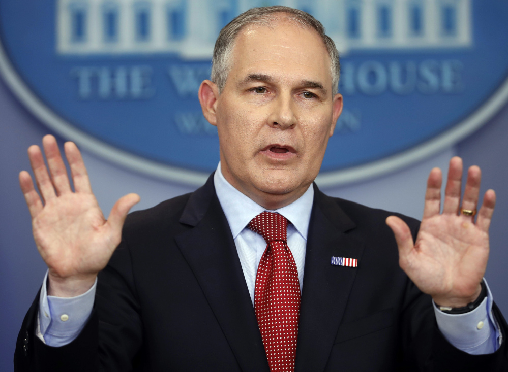 EPA Administrator Scott Pruitt says the Trump administration is taking steps to roll back an Obama-era policy that protected more than half the nation's streams from pollution.