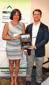 SHOWN IN THE PHOTO are Kerri Bickford and Parker Howard of Priority Real Estate Group of Topsham.